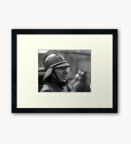 Portrait of a Bombero Framed Print