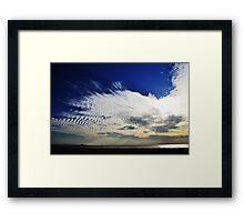Sonmiani Beach Sky Framed Print