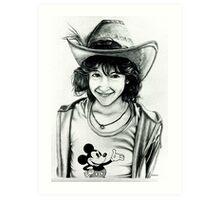 Kelly at Disneyland Art Print