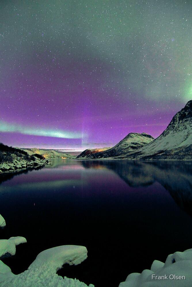 Aurora Borealis & snow by Frank Olsen