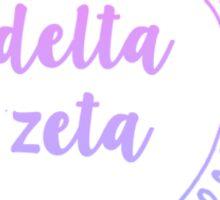 Delta Zeta Ombre Mandala Sticker