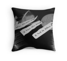When The Music Plays Throw Pillow