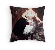 Jules Alexandre Grün Lady Underwear Throw Pillow