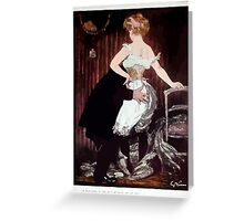Jules Alexandre Grün Lady Underwear Greeting Card