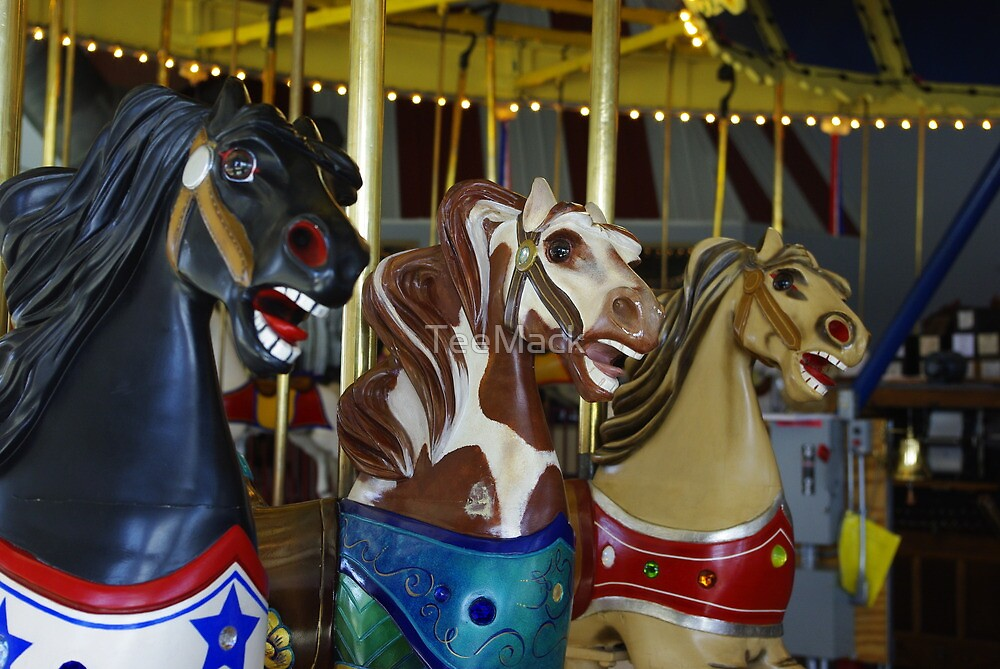Carousel Horses - Leavenworth, Kansas by TeeMack