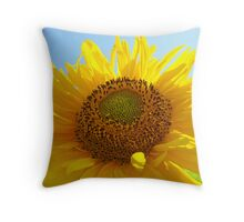 Bright Colorful Yellow Sunflower art Baslee Troutman Throw Pillow