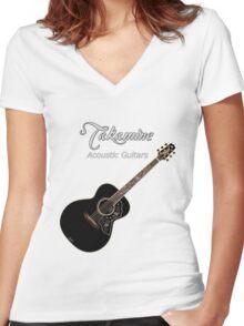 Takamine Acoustic Guitars  Women's Fitted V-Neck T-Shirt
