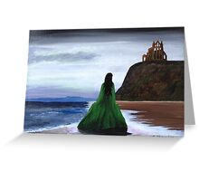 Whitby Witch (Green) Greeting Card