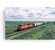 Red Barn on the Prairies Canvas Print