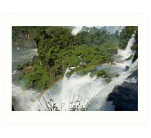 Iguazu Falls Rainbow Art Print