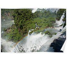 Iguazu Falls Rainbow Poster