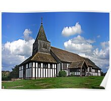 Church of St. James and St. Paul. Marton Cheshire UK. Poster