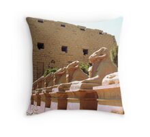 Karnak Temple Throw Pillow