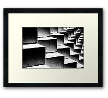 Composition in black and white Framed Print