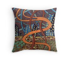 155 - NIGHT RIBBONS - DAVE EDWARDS - WATERCOLOUR - 2006 Throw Pillow