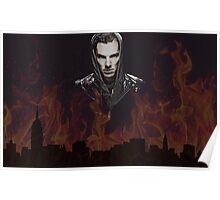 Benedict Cumberbatch - Flames Poster
