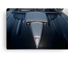 1958 Chevrolet Corvette 'Big Block' Hood Detail Canvas Print