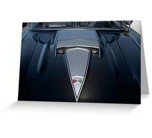 1958 Chevrolet Corvette 'Big Block' Hood Detail Greeting Card