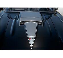 1958 Chevrolet Corvette 'Big Block' Hood Detail Photographic Print