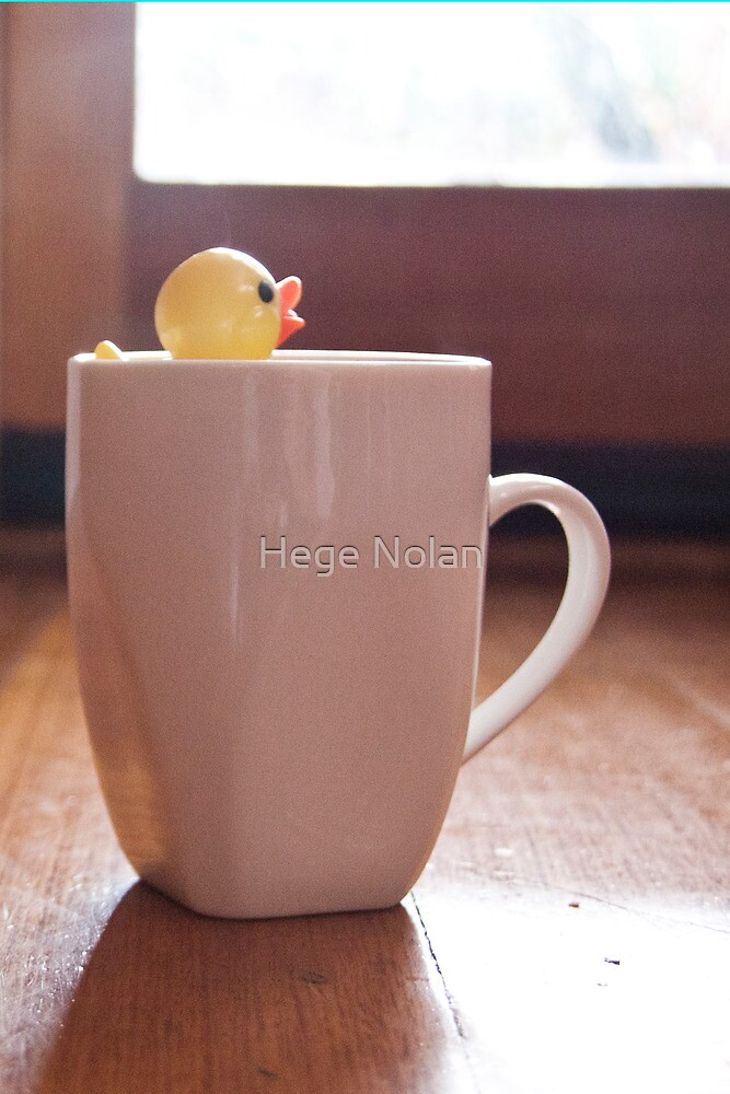 Duck in a cup by Hege Nolan