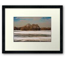 MASSAPEQUA LAKE ALL ICED UP Framed Print