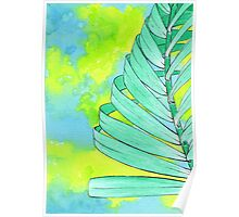 Abstract Palm Leaf - Spearmint Poster