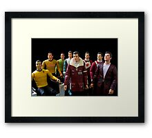 Captains Kirk Framed Print