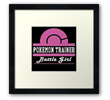 Pokemon Trainer - Battle Girl Framed Print