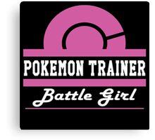 Pokemon Trainer - Battle Girl Canvas Print