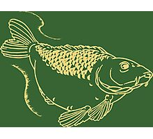 Carp Fishing Angling Fish Scales Illustration Photographic Print