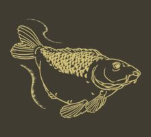 Carp Fishing Angling Fish Scales Illustration by CreativeTwins