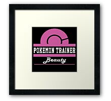 Pokemon Trainer - Beauty Framed Print