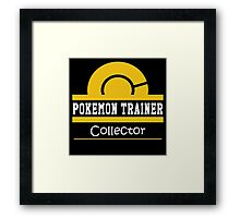 Pokemon Trainer - Collector Framed Print