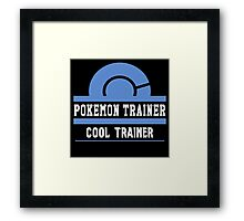 Pokemon Trainer - Cool Trainer Framed Print