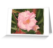 Oleander - Watercolor miniature Greeting Card