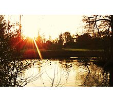 Rays over the Pond Photographic Print