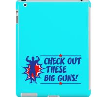 Body Builder Big Guns Fun Gym Lover Quote iPad Case/Skin