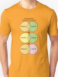 Life's Venn diagrams Unisex T-Shirt