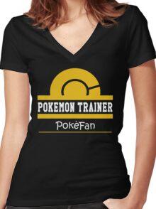 Pokemon Trainer - Pokefan Women's Fitted V-Neck T-Shirt