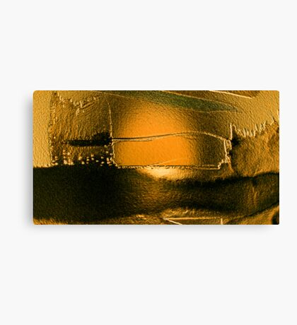 after the deluge so deadly quiet...... silent gold Canvas Print