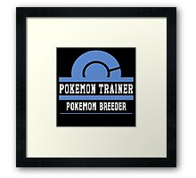 Pokemon Trainer - Pokemon Breeder Framed Print
