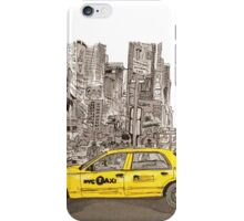 NYC - Times Square - Hand Drawn - Taxi - Cab iPhone Case/Skin