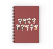 Girl's Generation being cute Spiral Notebook