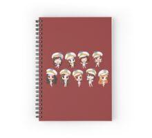 Girl's Generation being cute Spiral Notebook