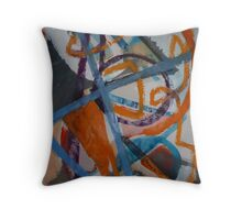 Autotelic Compass Throw Pillow