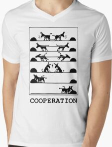 What Is Cooperation? Mens V-Neck T-Shirt