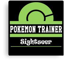 Pokemon Trainer - Sightseer Canvas Print