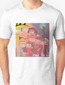 Crossover Steven universe, Star vs the forses of evil, Gravity falls T-Shirt
