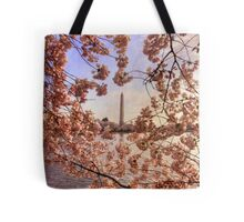 Cherry Blossoms And the Washington Monument Tote Bag