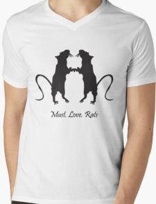 Must. Love. Rats 2011 - 2 Brothers Mens V-Neck T-Shirt